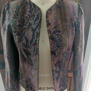Jackets & Blazers - Vintage Tapestry Crop Jacket